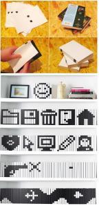 Pixel art - Usare il dorso dei libri per creare immagini